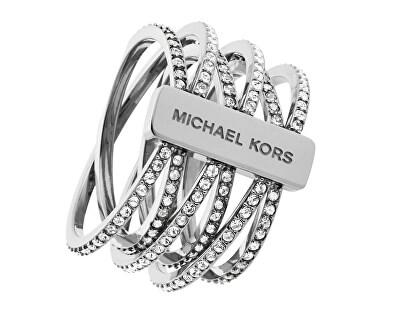 Michael Kors Inel din oțel, cu cristale MKJ4423040