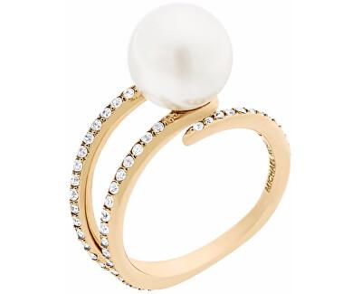 Michael Kors Dámský prsten s korálkem a krystaly MKJ6313710