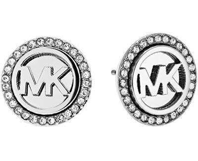 Michael Kors Cercei din otel cu logo-ul și cristale MKJ4516040