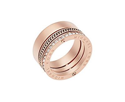 9d713c64a Michael Kors Pozlacený ocelový prsten s krystaly MKJ5838791 Doprava ...