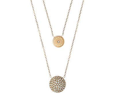 Michael Kors Pozlátený vrstvený náhrdelník s príveskami MKJ5516710