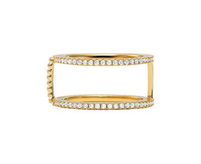 Inel strălucitor placat cu aur cu zircon MKC1113AN710