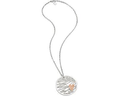 Ocelový bicolor náhrdelník Cuoremio SADA05
