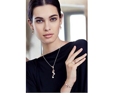 Ocelový náhrdelník s perlami Gioia SAER17