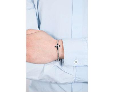 Ocelový náramek Křížek Rocce SALS10