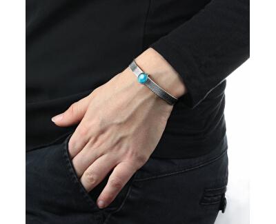 Ocelový náramek se světle modrým přívěskem Sensazioni SAJT60