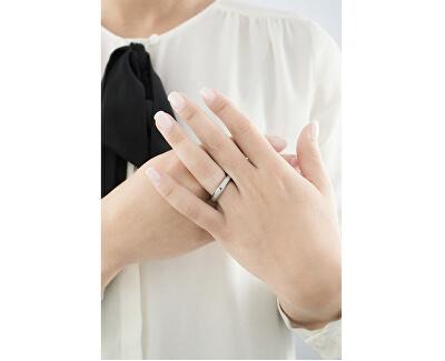 Ocelový prsten s diamantem Dandy SPL01