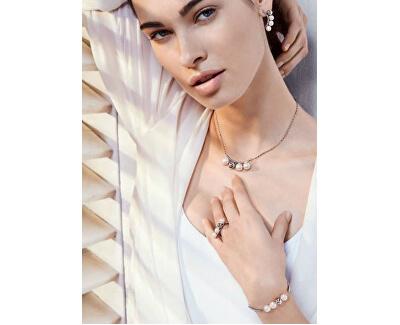 Oceľový prsteň s perlami Luna SADX13