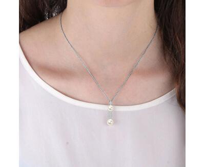 Stříbrný náhrdelník Perla SANH08