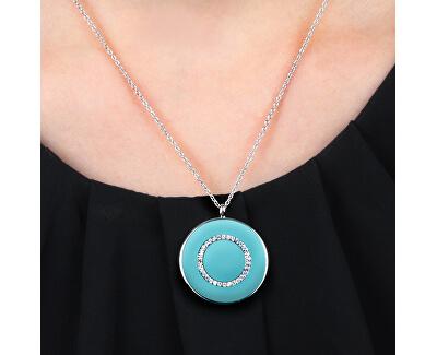 Stříbrný náhrdelník s tyrkysovým přívěskem Perfetta SALX19 (řetízek, přívěsek)