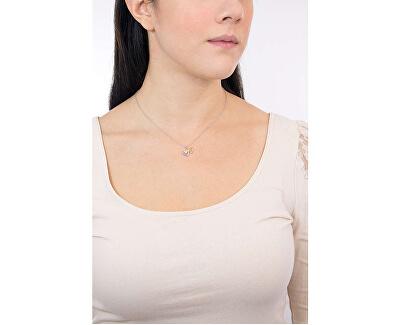 Stříbrný náhrdelník Spojené srdce Cuori SAIV23 (řetízek, přívěsek)