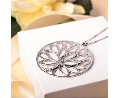 Dámský náhrdelník s krystaly Strom života Loto SATD03