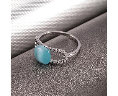 Krásný dámský prsten s kočičím okem 1930 SATP19