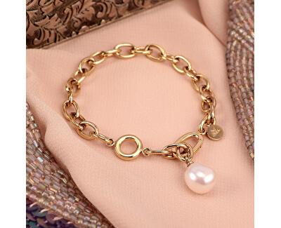 Masívní ocelový náramek s pravou perlou Oriente SARI06