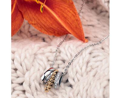 Moderní ocelový náhrdelník Insieme SAKM76 (řetízek, přívěsek)
