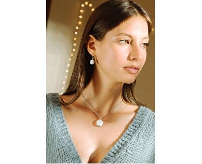 Moderní stříbrný náhrdelník Natura SATO03