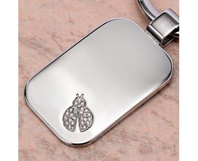 Ocelová klíčenka s beruškou SD0602