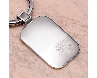 Ocelová klíčenka s designem stromu života SD0603