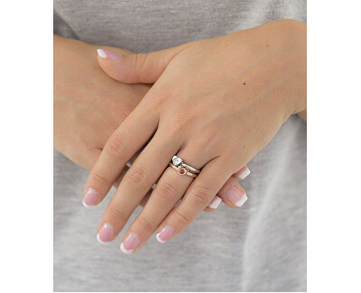 Ocelový bicolor prsten Love Rings SNA32