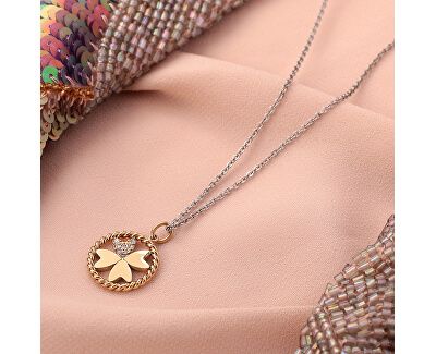 Oceľový náhrdelník s štvorlístkom MultiGips SAQG33