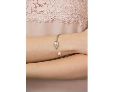 Bratara rigid cu perle reale Foglia AKH17