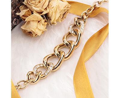 Pozlacený ocelový náhrdelník s masivním detailem Unica SATS02