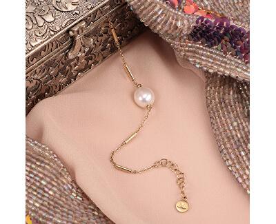Pozlacený ocelový náramek s pravou perlou Oriente SARI07