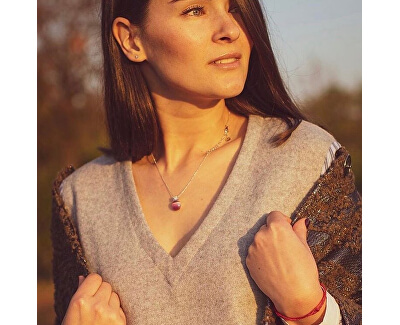 Stříbrný náhrdelník Gemma SAKK54