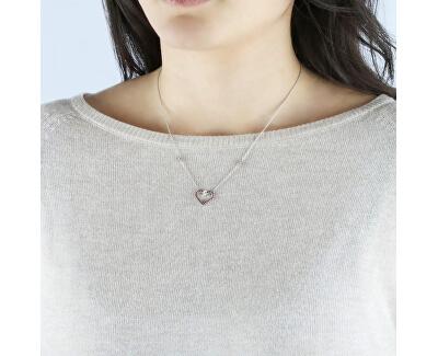 Stříbrný náhrdelník s třpytivým srdíčkem Cuori SAIV01