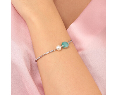Stříbrný náramek s perlou Gemma Perla SATC10
