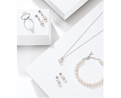 Stříbrný prsten s perlou Perla SANH070