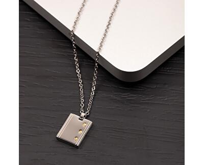 Stylový pánský ocelový náhrdelník Gold SATM01