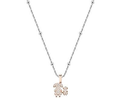 Bicolor náhrdelník s krystaly Love SOR15