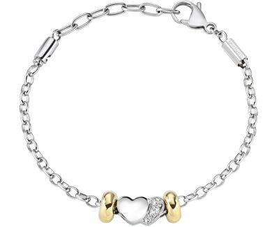 Brățară bicolor, din oțelDrops Heart SCZ714