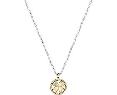 Oceľový náhrdelník s štvorlístkom MultiGips SAQG33 (retiazka, prívesky)