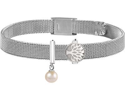 Ocelový náramek s perlou a stromem života Sensazioni SAJT109