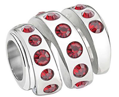 Pandantiv din oțel Drops Red Spiral SCZ409