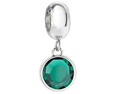 Pandantiv din inox cu cristal verde Picături SCZ907