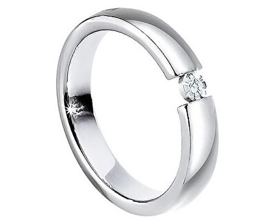 Morellato Oceľový prsteň s diamantom Love Rings S8532