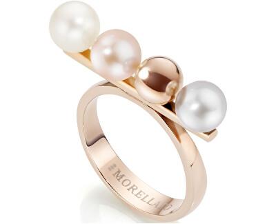 Morellato Ocelový prsten s perlami Lunae Rose SADX05