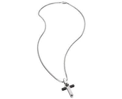 Morellato Pánsky oceľový náhrdelník s krížikom Motown SAAK06