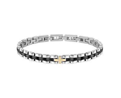 Pánský ocelový náramek Gold SATM04