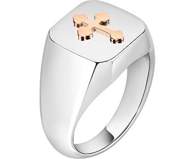Férfi nemesacél gyűrű kereszttel God SANF21