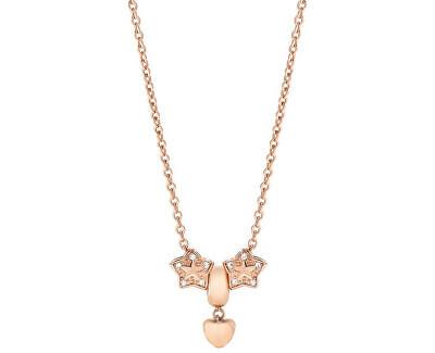 Morellato Pozlátený oceľový náhrdelník Drops Rose Gold Star SCZ375