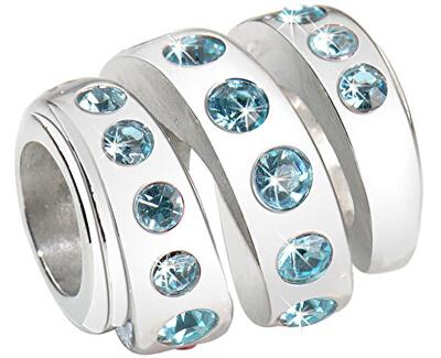 Pandantiv din oțel inoxidabilDrops Aquamarine Spiral SCZ203