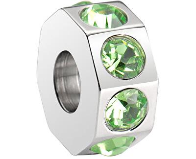 Ocelový přívěsek Drops Green Crystal SCZ189
