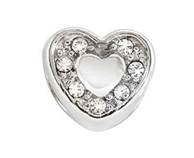 Ocelový přívěsek Drops Heart Crystals SCZ126