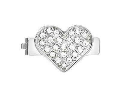 Inimă cu cristale transparente pentru brățăriSensazioni SAJT07