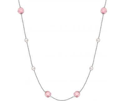 Stříbrný náhrdelník s perlami Gemma Perla SATC01