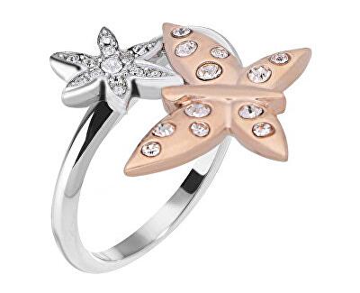 Morellato Ocelový bicolor prsten s motýlkem Natura SAHL06